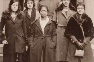 The ladies of Delta Sigma Theta Sorority, the University of Pennsylvania's first Black sorority, 1921